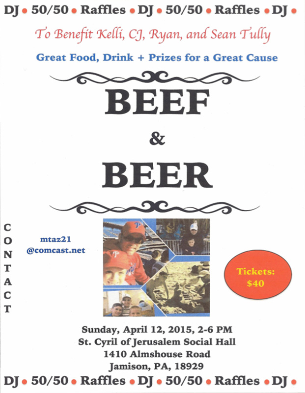 Beef & Beer benefit for Chris Tully